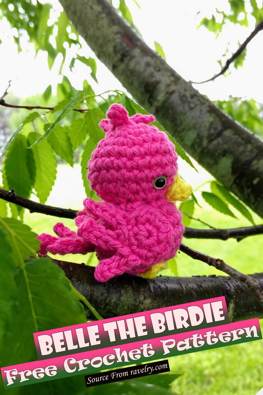 Free Crochet Belle The Birdie Pattern