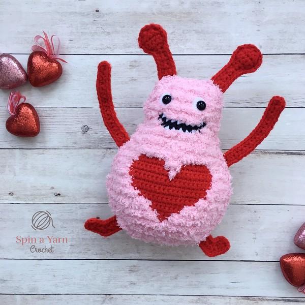 Free Crochet Big Fuzzy Love Monster Pattern