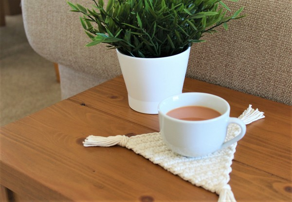 Free Crochet Boho Triangle Coaster Pattern