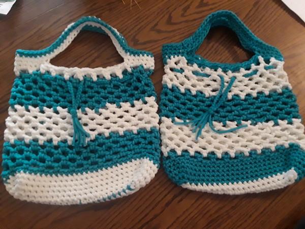 Free Crochet Bulky Srawstring Market Bag Pattern