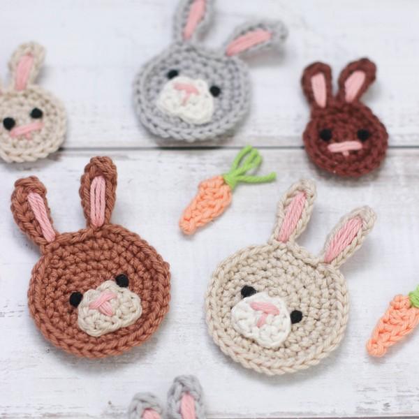 Free Crochet Bunny Rabbit Applique Pattern