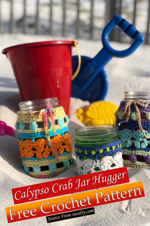 Free Crochet Calypso Crab Jar Hugger Pattern