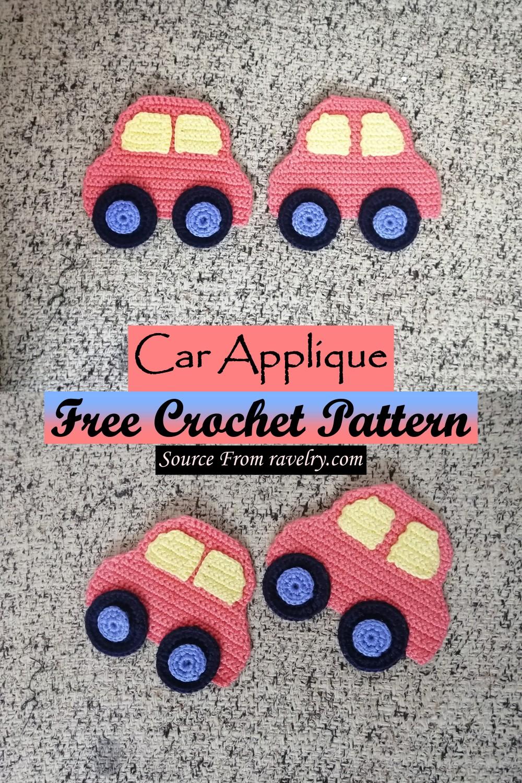 Free Crochet Car Applique Pattern