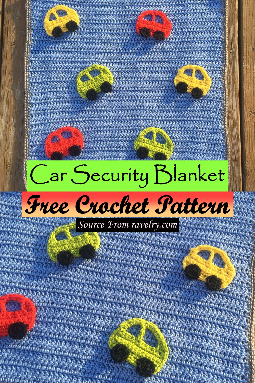 Free Crochet Car Security Blanket Pattern