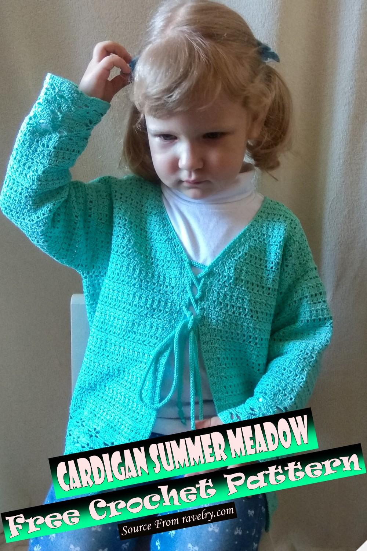 Free Crochet Cardigan Summer Meadow Pattern