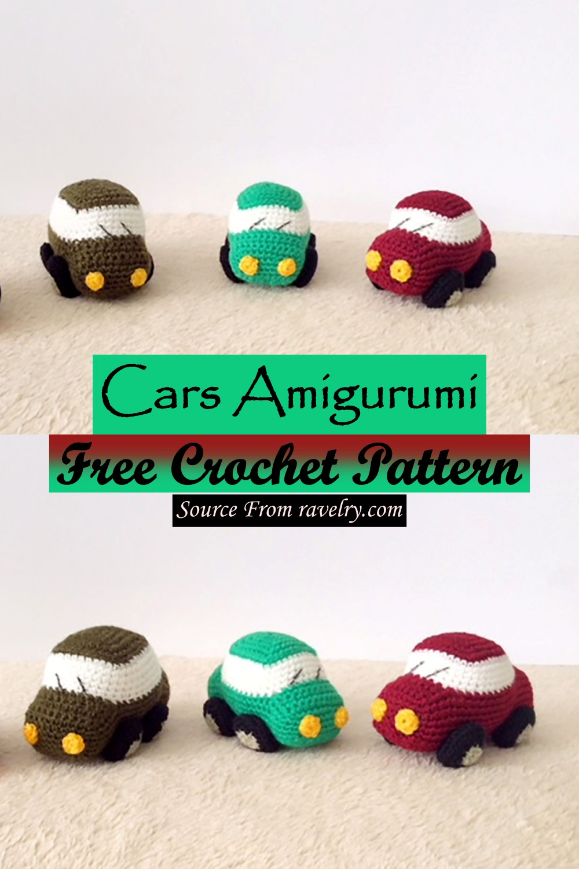 Free Crochet Cars Amigurumi Pattern