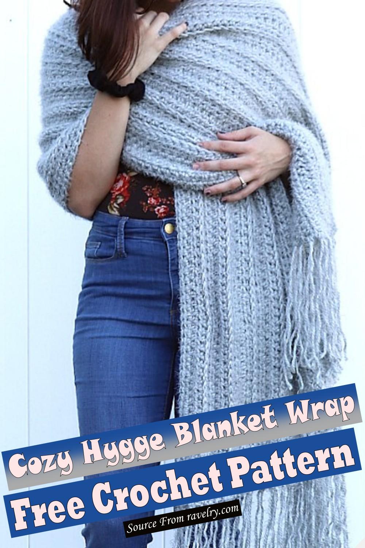 Free Crochet Cozy Hygge Blanket Wrap Pattern
