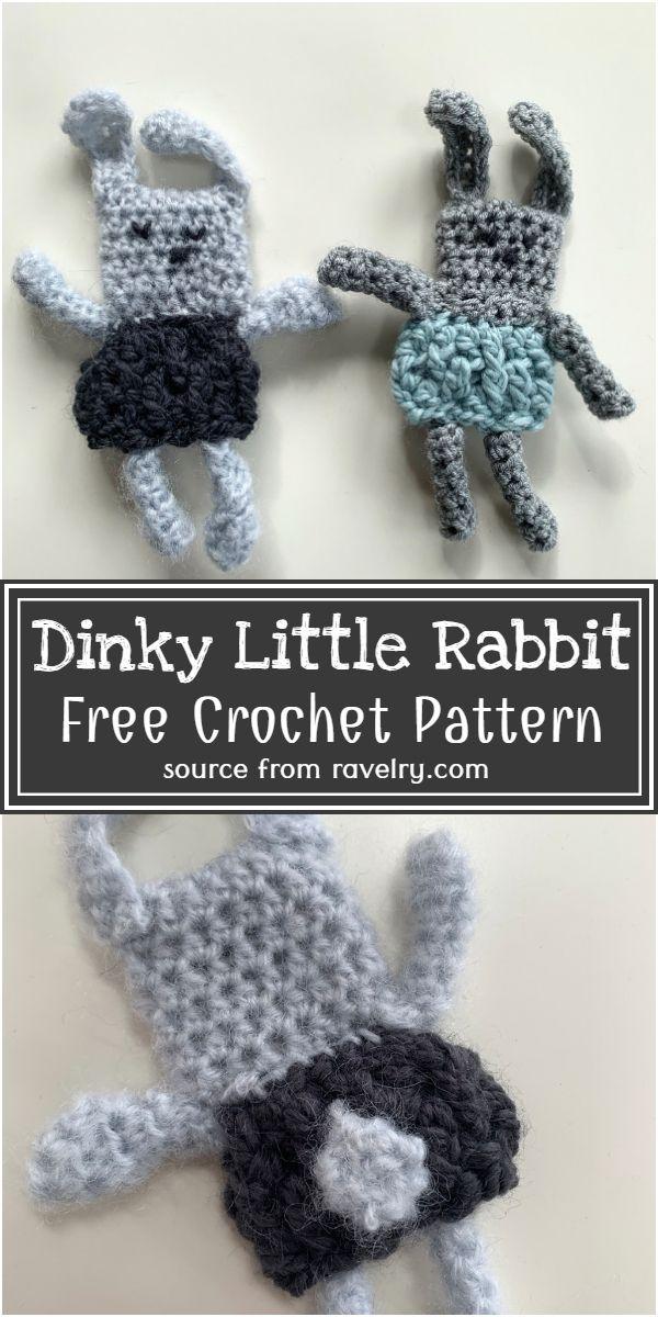 Free Crochet Dinky Little Rabbit Pattern