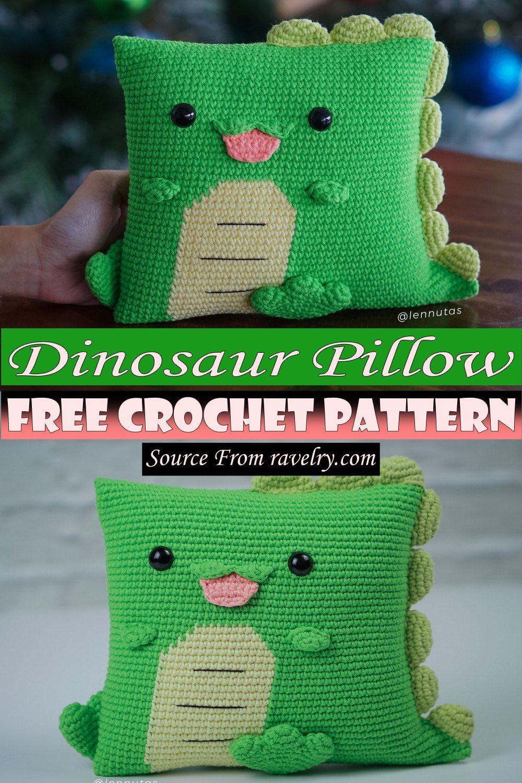Free Crochet Dinosaur Pillow Pattern