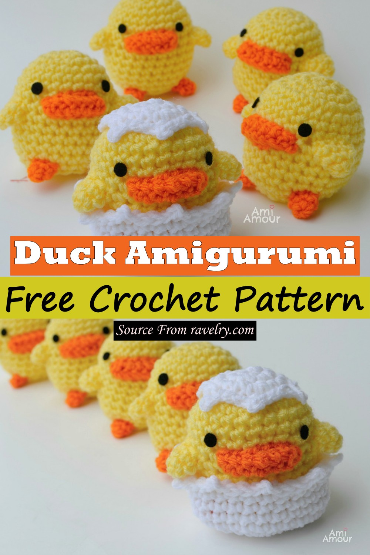 Free Crochet Duck Amigurumi Pattern
