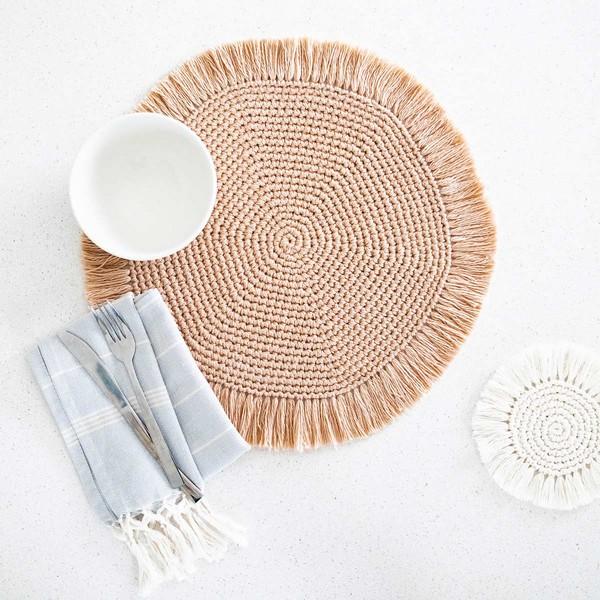 Free Crochet Easy Boho Placemats Pattern