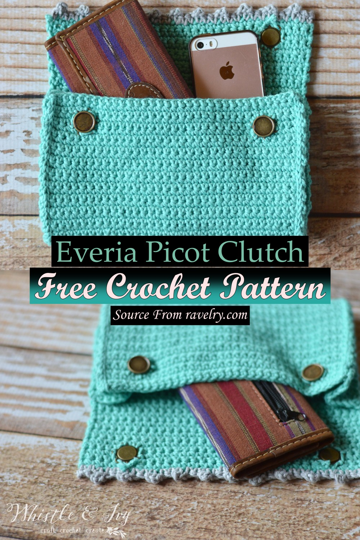 Free Crochet Everia Picot Clutch Pattern
