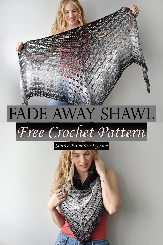 Free Crochet Fade Away Shawl Pattern
