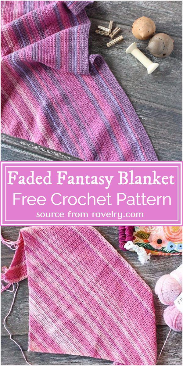 Free Crochet Faded Fantasy Blanket Pattern