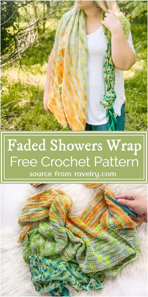 Free Crochet Faded Showers Wrap Pattern