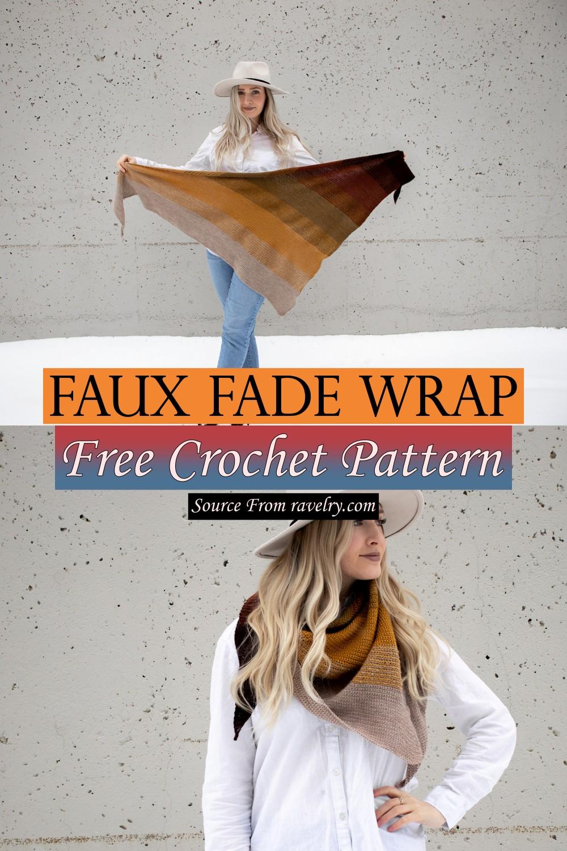 Free Crochet Faux Fade Wrap Pattern