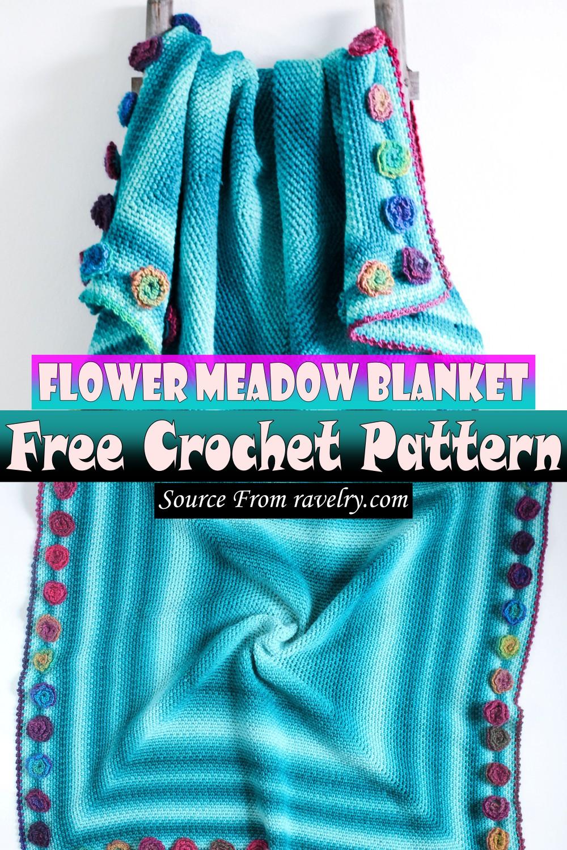 Free Crochet Flower Meadow Blanket Pattern