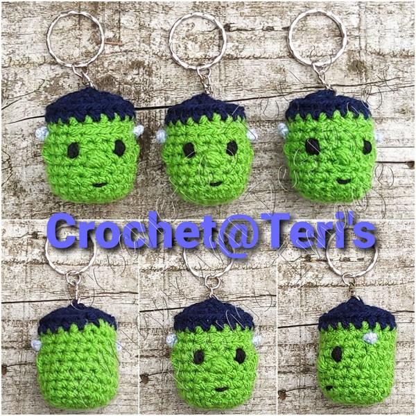 Free Crochet Frankie's Monster Keychain Pattern