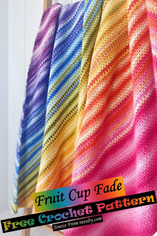 Free Crochet Fruit Cup Fade Pattern
