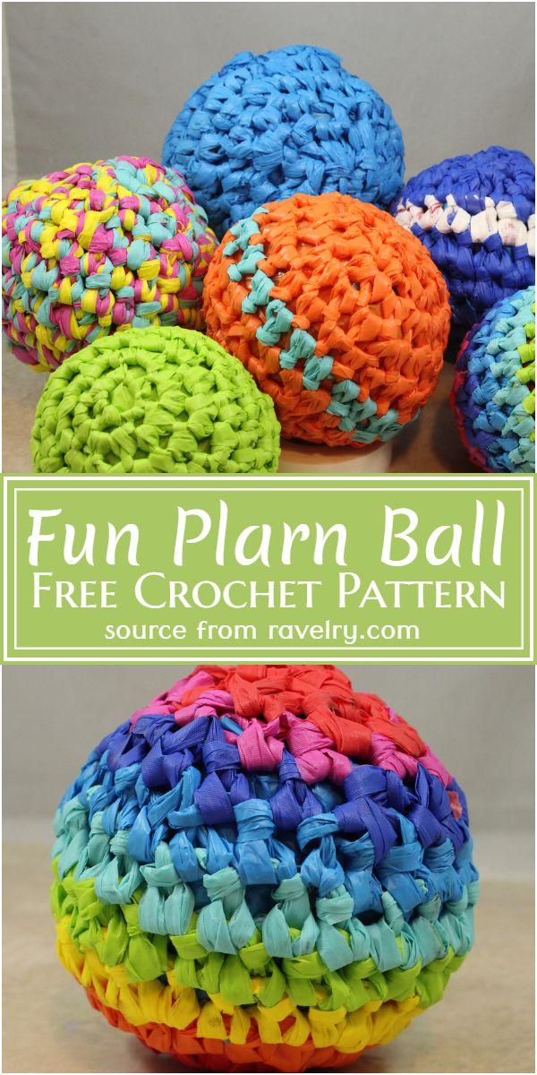 Free Crochet Fun Plarn Ball Pattern