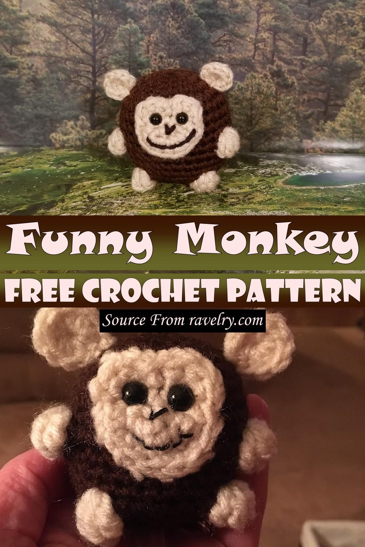 Free Crochet Funny Monkey Pattern