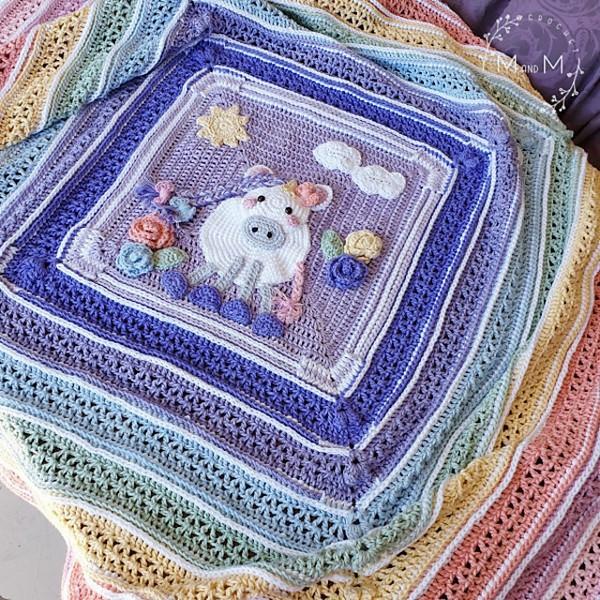 Free Crochet Hannah's Unicorn Blanket Pattern