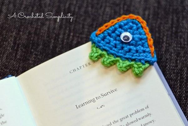 Free Crochet Happy Monster Bookmark Pattern