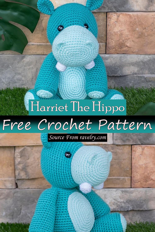 Free Crochet Harriet The Hippo Pattern