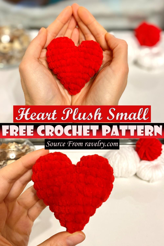 Free Crochet Heart Plush Small Pattern