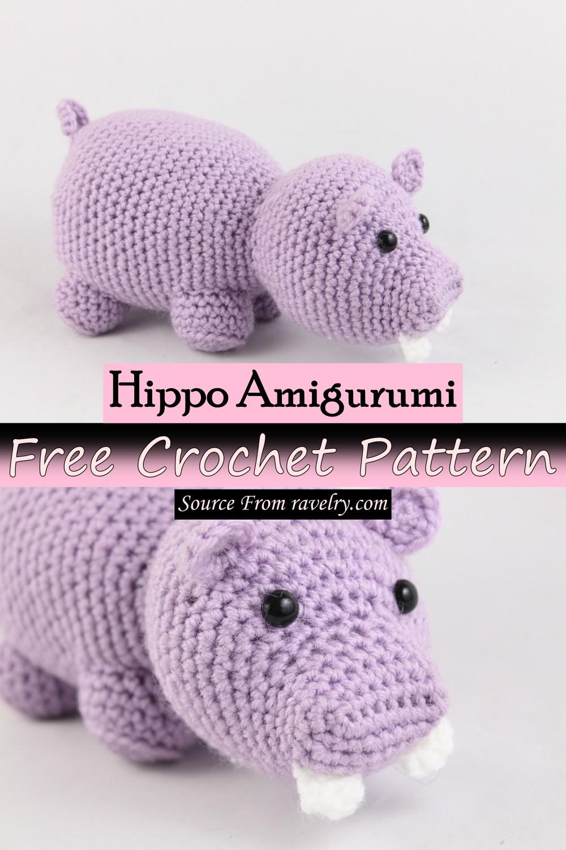 Free Crochet Hippo Amigurumi Pattern