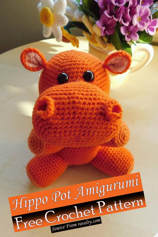 Free Crochet Hippo Pot Amigurumi Pattern