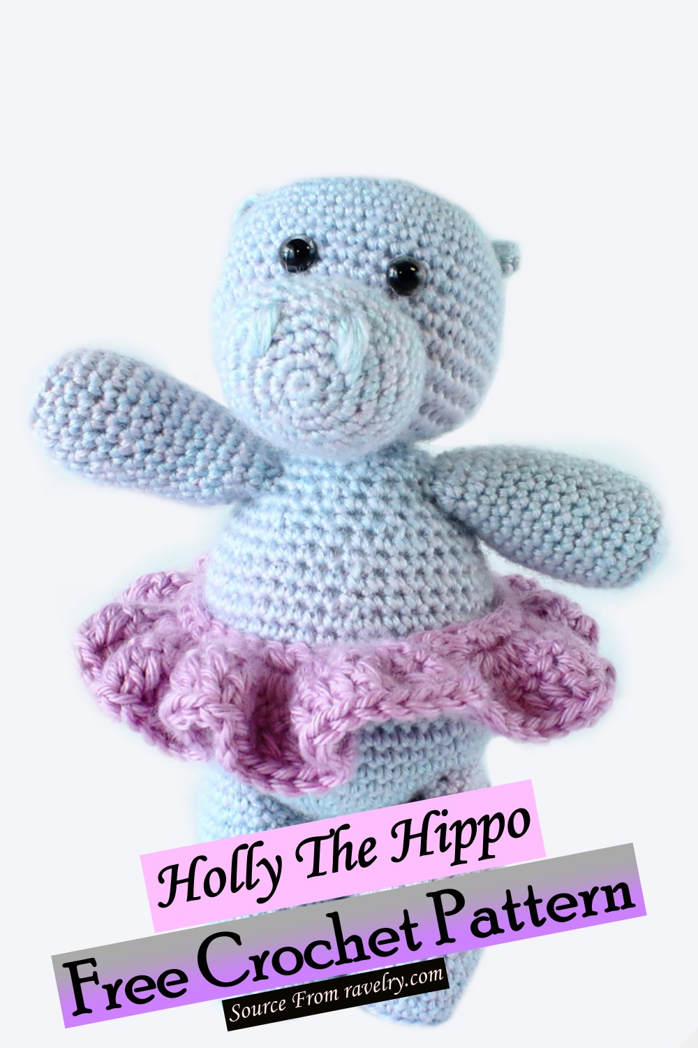 Free Crochet Holly The Hippo Pattern