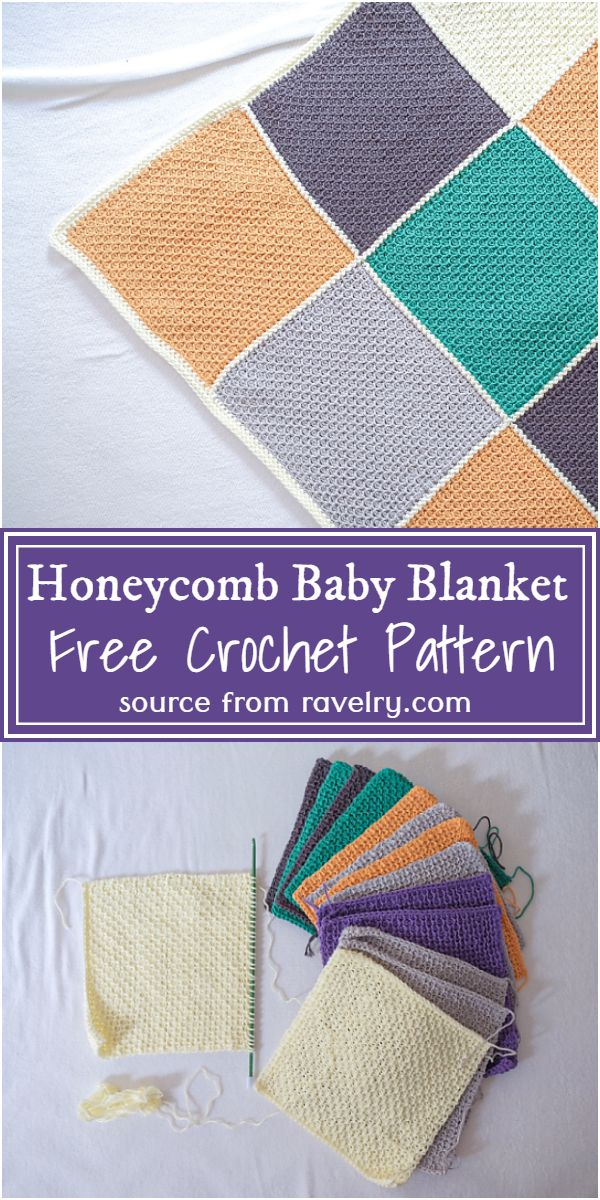 Free Crochet Honeycomb Baby Blanket Pattern For Beginners