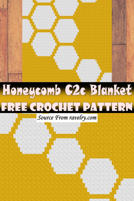 Free Crochet Honeycomb C2c Blanket Pattern