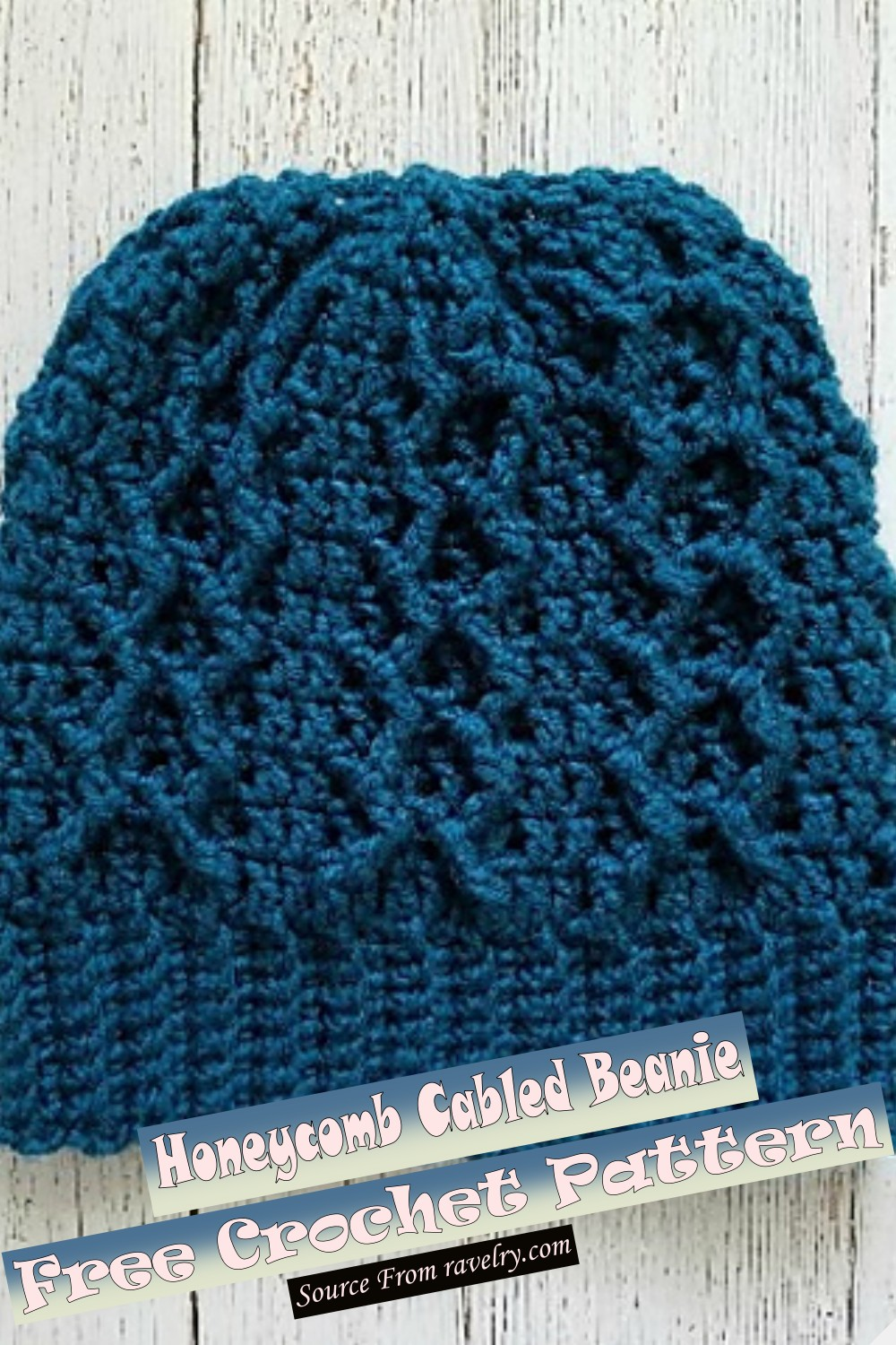 Free Crochet Honeycomb Cabled Beanie Pattern