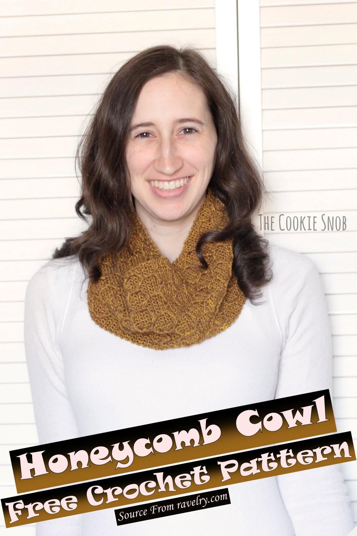Free Crochet Honeycomb Cowl Pattern