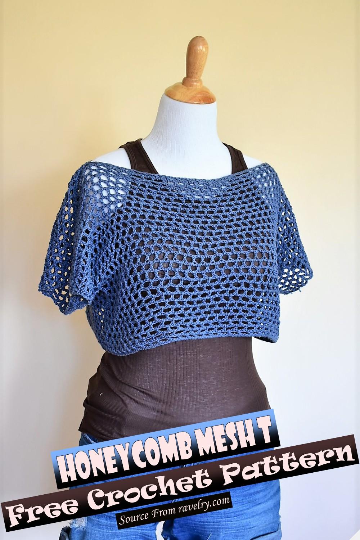 Free Crochet Honeycomb Mesh T Pattern