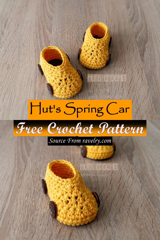 Free Crochet Hut's Spring Car Pattern