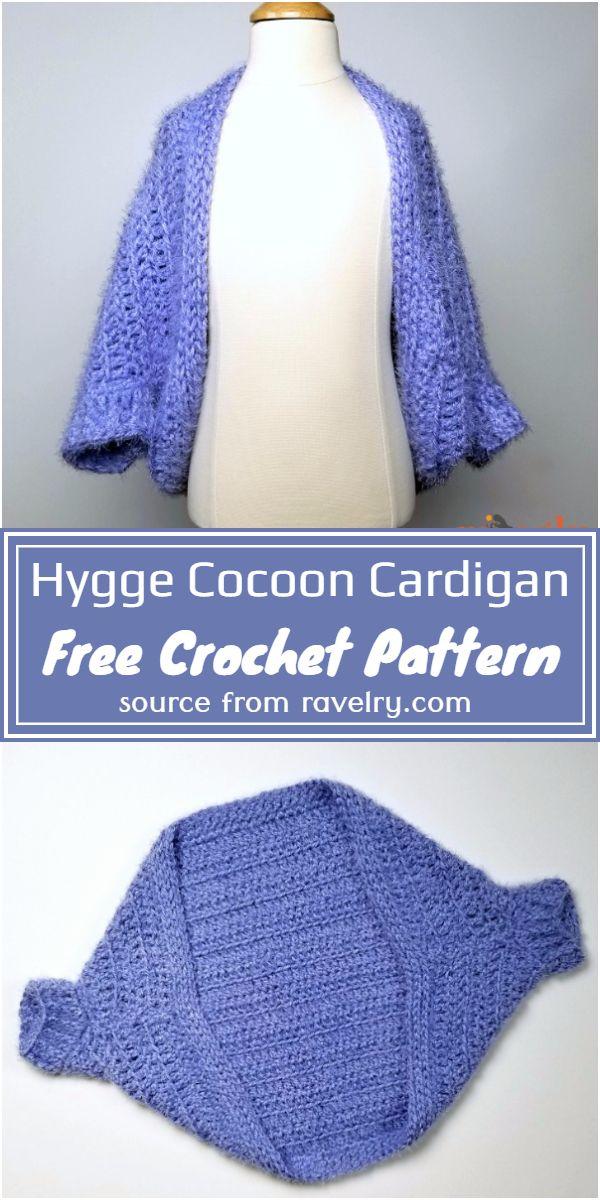 Free Crochet Hygge Cocoon Cardigan Pattern For Girls