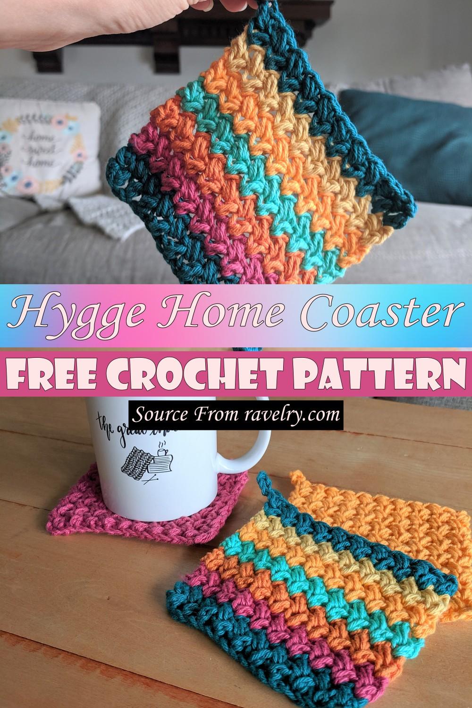 Free Crochet Hygge Home Coaster Pattern