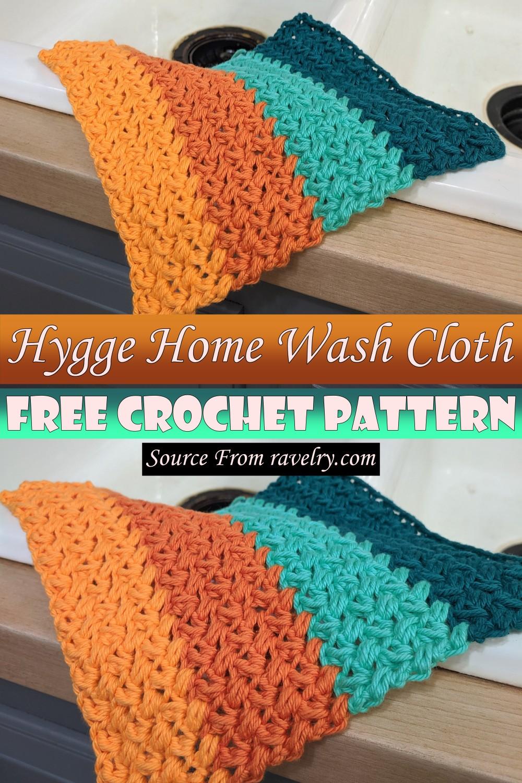 Free Crochet Hygge Home Wash Cloth Pattern