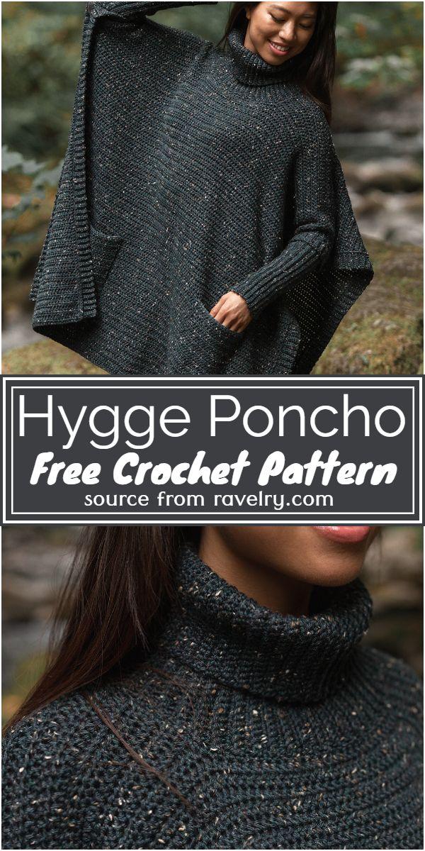 Free Crochet Hygge Poncho Pattern