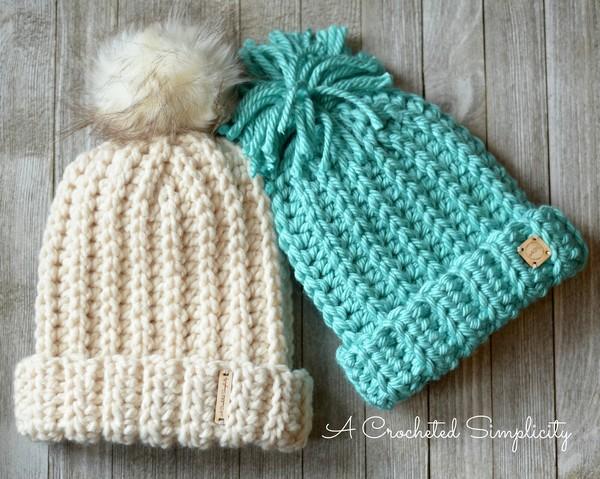 Free Crochet Knit Look Super Bulky Slouch Pattern