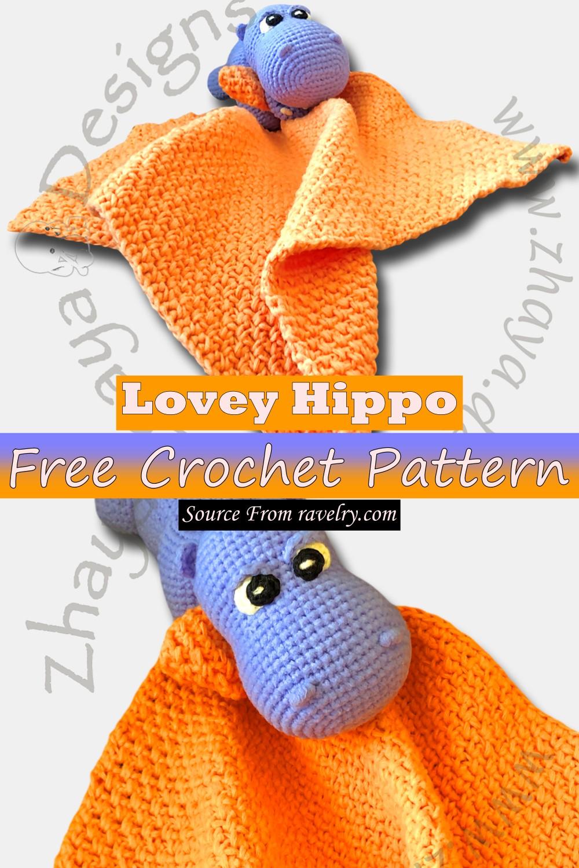Free Crochet Lovey Hippo Pattern