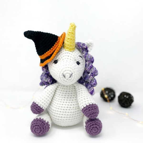 Free Crochet Lucy The Unicorn Witch Pattern