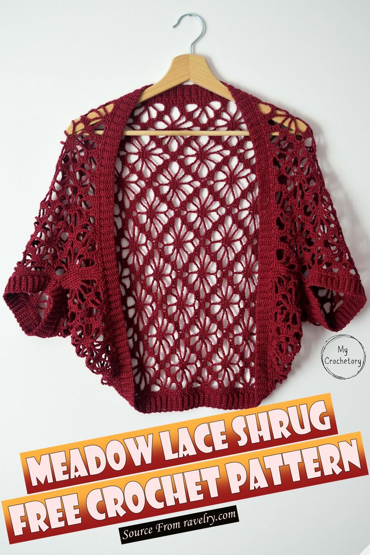 Free Crochet Meadow Lace Shrug Pattern