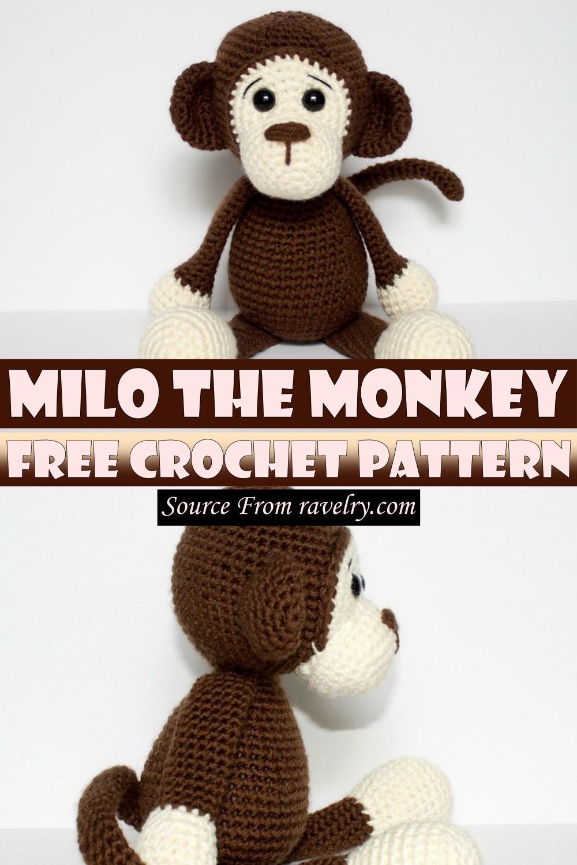 Free Crochet Milo The Monkey Pattern