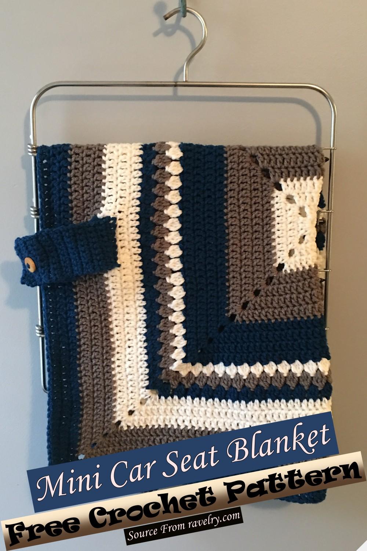 Free Crochet Mini Car Seat Blanket Pattern