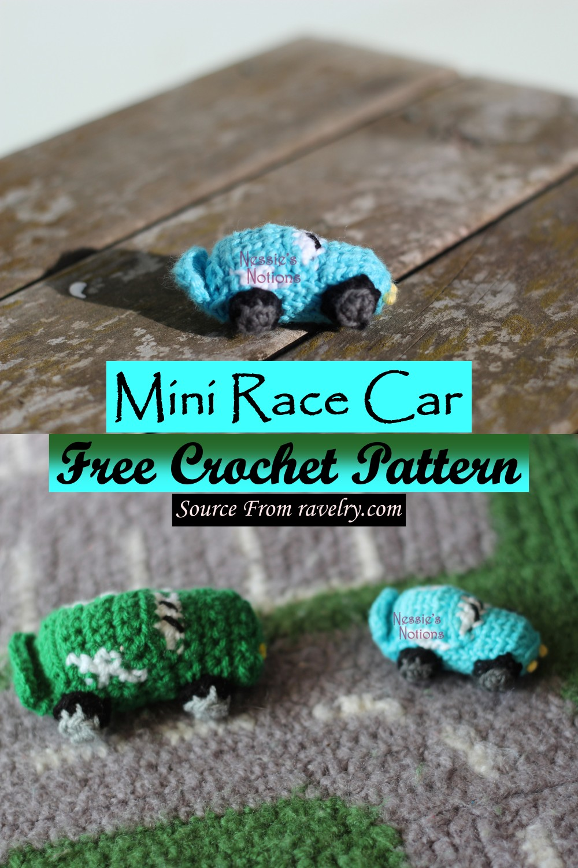 Free Crochet Mini Race Car Pattern