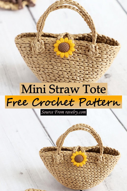 Free Crochet Mini Straw Tote Pattern